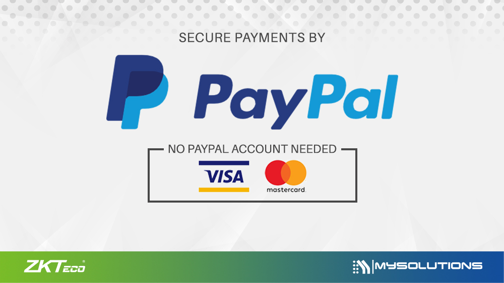 Purchase ZKTeco Products Using Credit Card Via PayPal